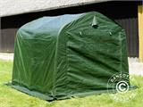 Storage tent PRO 2.4x2.4x2 m PE, with ground cover, Green/Grey - 13