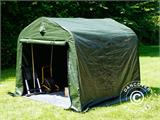 Storage tent PRO 2.4x2.4x2 m PE, with ground cover, Green/Grey - 14
