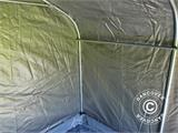 Storage tent PRO 2.4x2.4x2 m PE, with ground cover, Grey - 8