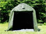 Storage tent PRO 2x3x2 m PE, with ground cover, Green/Grey - 1