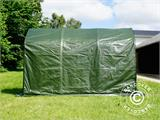 Storage tent PRO 2x3x2 m PE, with ground cover, Green/Grey - 2
