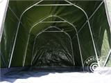 Storage tent PRO 2x3x2 m PE, with ground cover, Green/Grey - 3