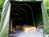 Storage tent PRO 2x3x2 m PE, with ground cover, Green/Grey - 4