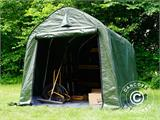 Storage tent PRO 2x3x2 m PE, with ground cover, Green/Grey - 5
