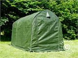Storage tent PRO 2x3x2 m PE, with ground cover, Green/Grey - 7