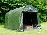 Storage tent PRO 2x3x2 m PE, with ground cover, Green/Grey - 8