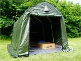 Storage tent PRO 2x3x2 m PE, with ground cover, Green/Grey - 9