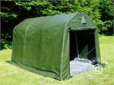 Storage tent PRO 2x3x2 m PE, with ground cover, Green/Grey - 11
