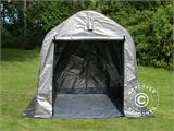 Storage tent PRO 2x2x2 m PE, with ground cover, Grey - 1