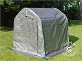 Storage tent PRO 2x2x2 m PE, with ground cover, Grey - 2