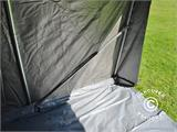 Storage tent PRO 2.4x2.4x2 m PE, with ground cover, Grey - 7
