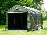 Storage tent PRO 2.4x2.4x2 m PE, with ground cover, Green/Grey - 1