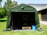 Storage tent PRO 2.4x2.4x2 m PE, with ground cover, Green/Grey - 2