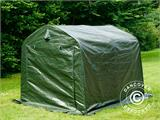 Storage tent PRO 2.4x2.4x2 m PE, with ground cover, Green/Grey - 3