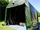 Storage tent PRO 2.4x2.4x2 m PE, with ground cover, Green/Grey - 4