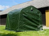 Storage tent PRO 2.4x2.4x2 m PE, with ground cover, Green/Grey - 7