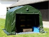Storage tent PRO 2.4x2.4x2 m PE, with ground cover, Green/Grey - 10