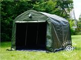 Storage tent PRO 2.4x2.4x2 m PE, with ground cover, Green/Grey - 12