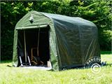 Storage tent PRO 2.4x2.4x2 m PE, with ground cover, Green/Grey - 15