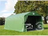Portable Garage PRO 3.6x6x2.68 m PVC, with ground cover, Green/Grey - 1