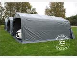 Portable garage PRO 3.6x6x2.7 m PVC with ground cover, Grey - 2