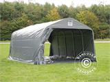 Portable garage PRO 3.6x6x2.7 m PVC with ground cover, Grey - 6