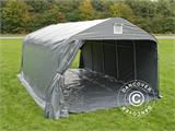 Portable garage PRO 3.6x6x2.7 m PVC with ground cover, Grey - 8