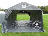 Portable garage PRO 3.6x6x2.7 m PVC with ground cover, Grey - 9
