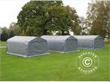 Portable garage PRO 3.6x6x2.7 m PVC with ground cover, Grey - 13