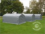 Portable garage PRO 3.6x6x2.7 m PVC with ground cover, Grey - 14