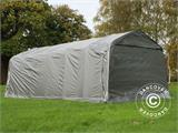 Portable garage PRO 3.6x7.2x2.68 m PE with ground cover, Grey - 4