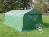 Portable garage PRO 3.6x7.2x2.68 m PVC with ground cover, Green - 7
