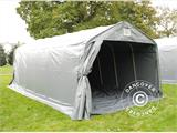 Portable Garage PRO 3.6x7.2x2.68 m PVC, with ground cover, Grey - 4