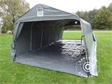Portable Garage PRO 3.6x7.2x2.68 m PVC, with ground cover, Grey - 5