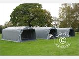Portable Garage PRO 3.6x7.2x2.68 m PVC, with ground cover, Grey - 7
