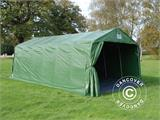 Portable Garage PRO 3.6x7.2x2.68 m PVC, with ground cover, Green/Grey - 1