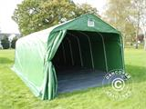Portable Garage PRO 3.6x7.2x2.68 m PVC, with ground cover, Green/Grey - 2