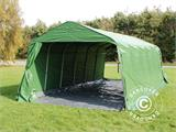 Portable Garage PRO 3.6x7.2x2.68 m PVC, with ground cover, Green/Grey - 5