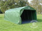 Portable Garage PRO 3.6x7.2x2.68 m PVC, with ground cover, Green/Grey - 6