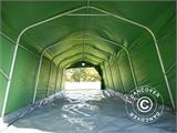 Portable Garage PRO 3.6x7.2x2.68 m PVC, with ground cover, Green/Grey - 8