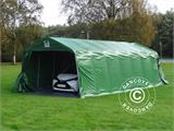 Portable Garage PRO 3.6x8.4x2.68 m PVC, with ground cover, Green/Grey - 1