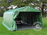 Portable Garage PRO 3.6x8.4x2.68 m PVC, with ground cover, Green/Grey - 2