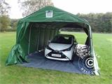 Portable Garage PRO 3.6x8.4x2.68 m PVC, with ground cover, Green/Grey - 3