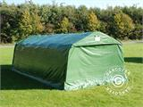 Portable Garage PRO 3.6x8.4x2.68 m PVC, with ground cover, Green/Grey - 5