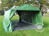Portable Garage PRO 3.6x8.4x2.68 m PVC, with ground cover, Green/Grey - 6