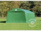 Portable Garage PRO 3.6x8.4x2.68 m PVC, with ground cover, Green/Grey - 7