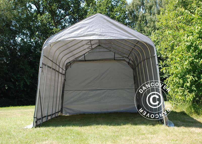 gris Zeltgarage lagerzelt garagenzelt Basic 3,3x3 6x2 4 m PE