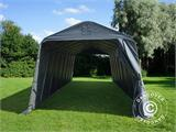 Portable Garage PRO 3.77x9.7x3.18 m PVC, Grey - 1