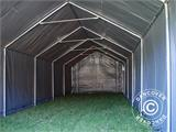 Storage shelter PRO 4x12x2x3.1 m, PVC, Grey - 13