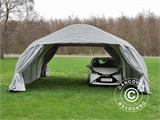 Portable double garage 5.4x6x2.9 m PVC, Grey - 1